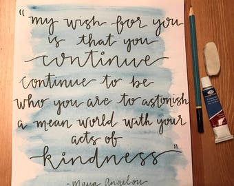 Custom Watercolor Calligraphy Quote
