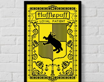 BOGO SALE, Cross stitch pattern, Hogwarts House Hufflepuff, Harry Potter quote, Instant Download, Cross-stitch PDF, Embroidery, Digital #155