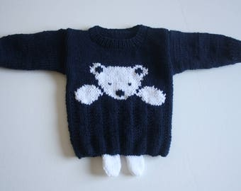 Knitted children's sweater