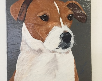 Jack Russell Welcome Slate