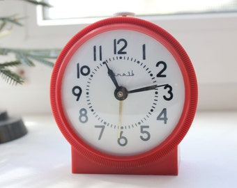 VITYAZ - Shabby chic Vintage Rare Alarm Clock - Soviet Mechanical Alarm Clock Vityaz- Home Decor - Vintage Decor