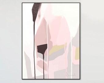 Abstract Art Printable, Wall Art Print, Blush Grey Art, Minimalist Print, Home Decor, Scandinavian Art, Digital Downloads, Abstract Print