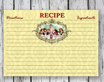 Victorian RECIPE CARDs - Printable Download Images, Paper Craft, Scrapbook. DIY. Print at Home