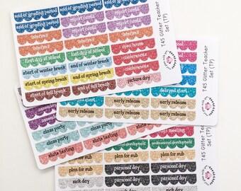 T45 || 88 Teacher Planner Glitter Sticker Set