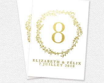 Brand table printable, Wedding Reception, wedding stationery, printable (#02)