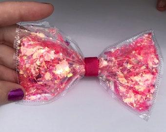 Cute Kawaii Pink Opal Shaker Bow