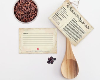 Victoria's Vegan Chocolates ~ Recipe Card, 4x6, Printable, Cooking, Hostess or Teacher Kitchen Shower Gift, Valentine's Day Gift Idea, DIY