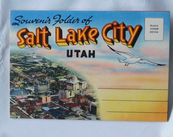 Salt Lake City Utah, 1950 Post Card Booklet, Mint Condition of 19 views of Sallt Lake City dated 1950.