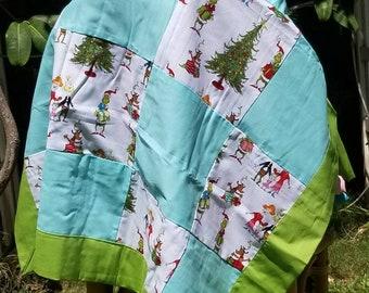 Grinch patch quilt