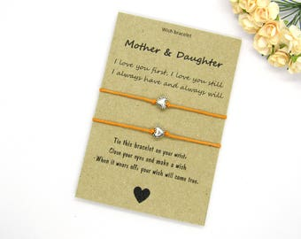 Mother Daughter Wish Bracelet - Mom gift - Mom and Daughter gift - Gift for mom - Gift for Mother's Day - Mother's Day Jewelry - Set of two