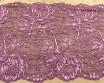 LACE of CALAIS - 18cms - stretch - purple