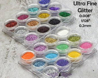 2 Boxes of total 24 Color X 3 Grams/3ml/0.01oz Ultra fine 2mm Iridescent Glitter Pigment nail polish holographic resin Powder MB_GL0.2_M