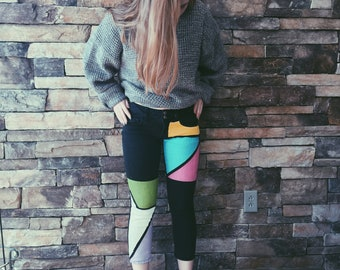Color blocked Jeans