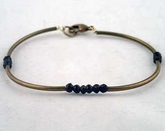 Four Corners Bracelet In Spinel - handmade to order in NYC