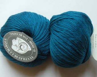 5 balls 215 teal Cashmere-Wool Textile brand