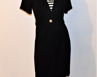 Vintage Dress A Touch of Nautical in Black
