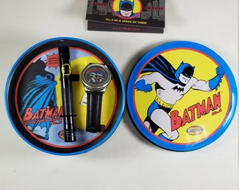 Batman Friend or Foe Fossil Collector's Watch No. 2 w/ Flashlight LI1035 NIB