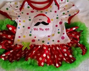 FREE SHIPPING !!!  0-3mo Christmas Baby Dress, Matching Headband, Christmas Baby Gift, Christmas Photo Shoot, Reborn Christm as Outfit
