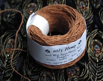 Pumpkin Latte 10/3 Hemp Yarn