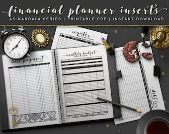 A5 Mandala | Financial Planner, Monthly Budget, and Debt Tracker Inserts