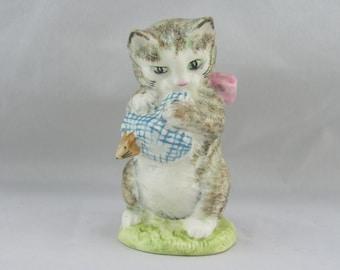 Beatrix Potter Beswick Figurine Miss Moppet BP3a Brown Cat Figure