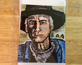 Blank 5x7 Cowboy Michael note cards with envelopes