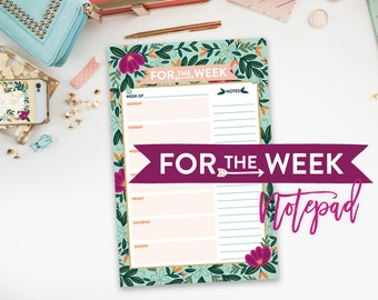 For the Week Notepad
