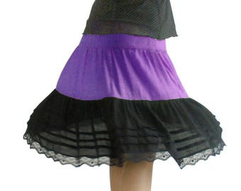 Skirt at the knee length ruffled Tulle lining (M140)