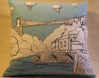 "15"" cushion cover Bristol balloons Clifton suspension bridge"