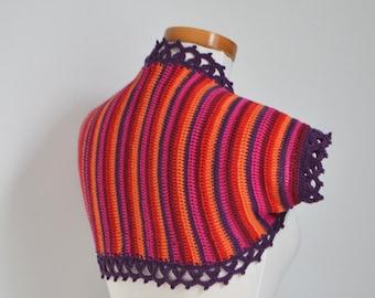 RAYAS, Crochet shrug pattern, pdf