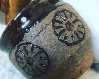 Laholm/Scandinavian/studio pottery/hanging/potter/planter/jungalow /boho /flower/pot