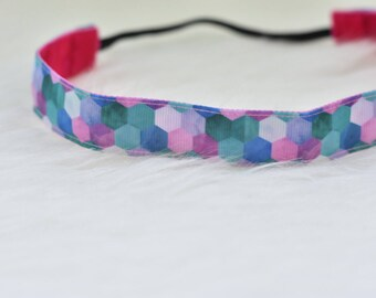 Mermaid Nonslip Headband // Bridget Bands - No Slip - Non Slip - Gift - Purple - Ocean - Workout Headband - Running - Yoga