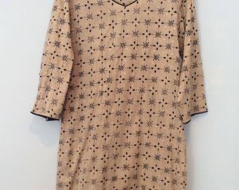 Tan Embroidered Tunic
