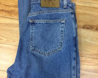 Calvin Klein Blue Jeans //Vintage 1980's High Waist Jeans Pants// Brooke Shields Jeans Size 13/14