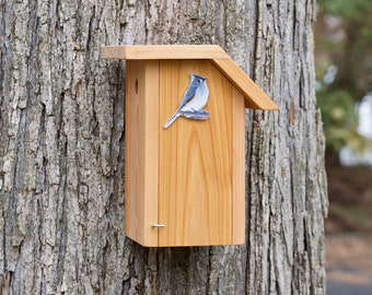 Tufted Titmouse - Cedar bird house