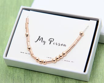 My Person Necklace, Morse Code Necklace, You're My Person Necklace, My Person Morse Code, Wife Girlfriend Gift, Anniversary Gift for Her