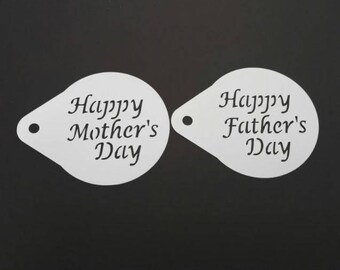 Mother's Day & Father's Day Stencils 2 pack