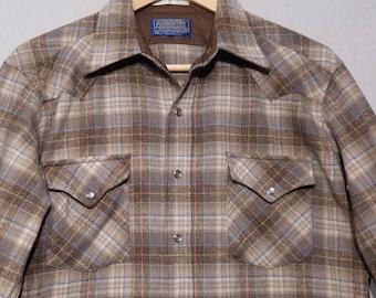Vintage Pendleton Shirt / M - L / 1970s / High Grade Western Wear / Cowboy Shirt / Pearl Snap / 1970s Shirt / 70s Shirt / Camping / Hunting