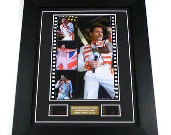 Freddie Mercury Queen Original Vintage Film Cells Music Memorabilia in Picture Frame