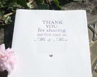 Pack of 50 Crisp White Cutlery Fold 40 x 40cm Airlaid Paper Napkins Fully personalised