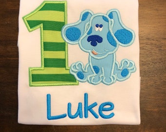 Blue's Clues Birthday Shirt // Blue's Clues Shirt // Monogrammed Birthday Shirt // Birthday Shirt for Boy