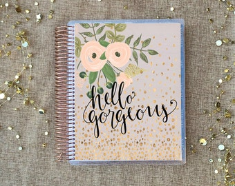 """Planner Cover Set: """"Hello Gorgeous"""" 10 Mil Laminated for use with ERIN CONDREN LIFEPLANNER™"""