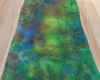 Handpainted Double Knit Sock Blank - Oil on Water