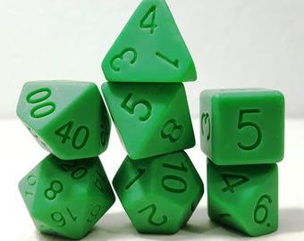 Perfect Plastic Dice - Single Polish - Green