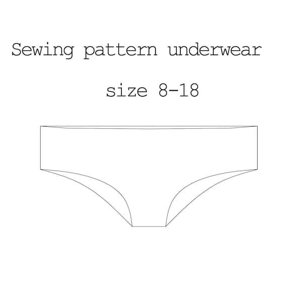 Sewing Pattern Underwear, PDF Pattern Lingerie, Pattern Pants ...