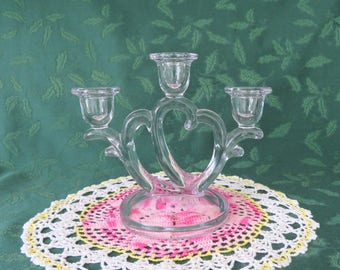 Imperial, Double Heart, Crystal Candelabra