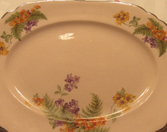 Royal Beige Ware by Royal China Co. Sebring Ohio Small Serving Platter