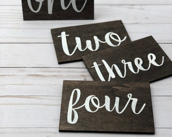 Table Numbers | Wood Table Numbers | Wedding Table Numbers| Wood Signs | Hand Made | Rustic Wedding Decor