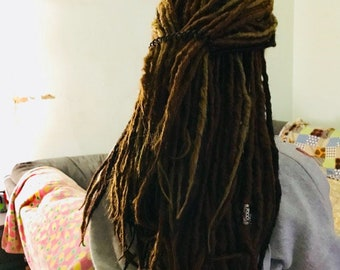 Synthetic Dreads  Dreadlocks Extensions Full Half  Set  Double Ended DE SE Synth Faux Locs Natural Boho