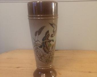 German Beer Stein, Original King Handcrafted, Deutschland Mallard Mug, Cup Made in West Germany